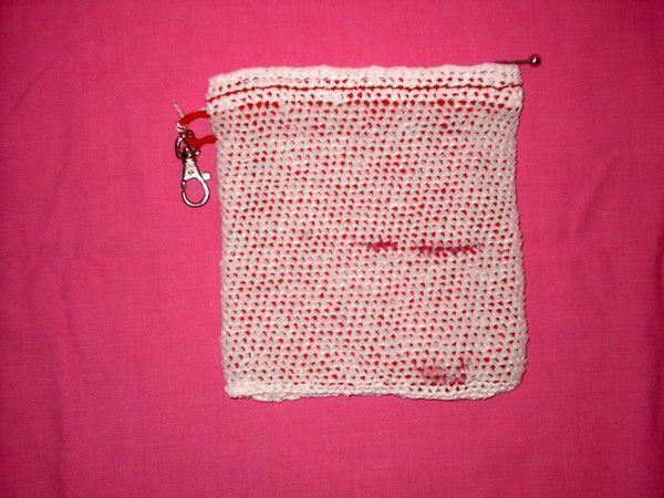 Petite pochette maquillage blanc et rouge - Petites pochettes plastiques ...